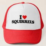 "I LOVE SQUIRRELS TRUCKER HAT<br><div class=""desc"">I LOVE SQUIRRELS</div>"