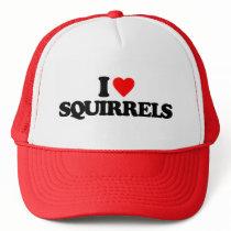 I LOVE SQUIRRELS TRUCKER HAT
