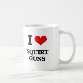 I Love Squirt Guns Coffee Mug