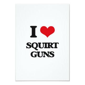 """I love Squirt Guns 3.5"""" X 5"""" Invitation Card"""