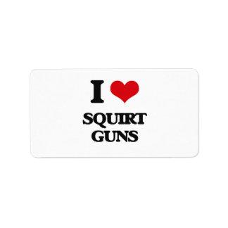 I love Squirt Guns Address Label