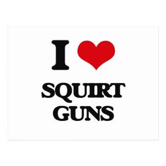 I love Squirt Guns Postcard