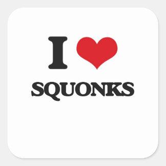 I love Squonks Square Sticker