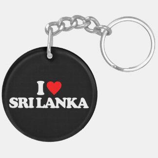 I LOVE SRI LANKA ACRYLIC KEY CHAINS