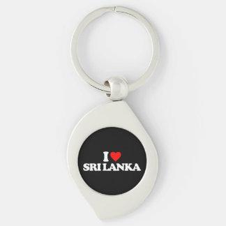I LOVE SRI LANKA KEYCHAIN