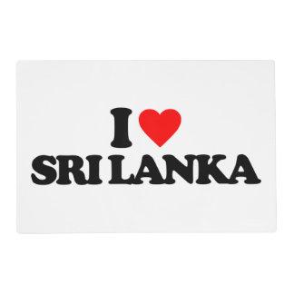 I LOVE SRI LANKA PLACEMAT