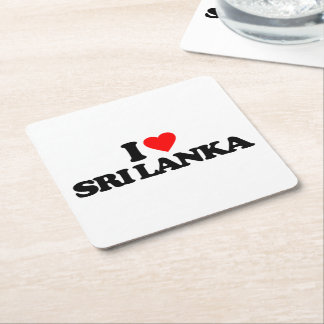 I LOVE SRI LANKA SQUARE PAPER COASTER