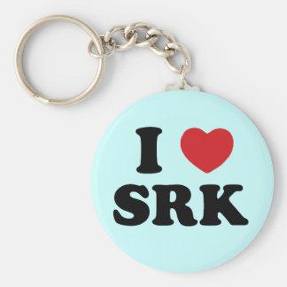 I love SRK Basic Round Button Keychain