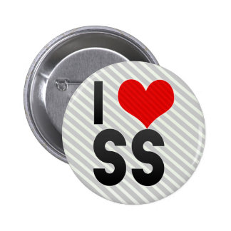 I Love SS Pinback Buttons