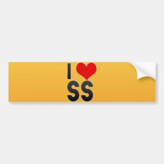 I Love SS Car Bumper Sticker