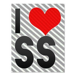 I Love SS 4.25x5.5 Paper Invitation Card