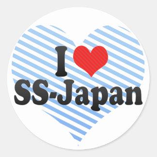 I Love SS-Japan Round Sticker