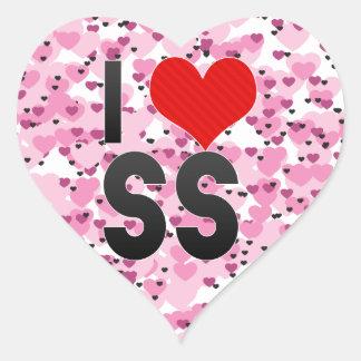 I Love SS Heart Sticker