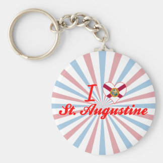 I Love St. Augustine, Florida Keychains