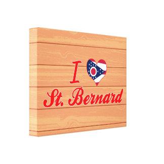 I Love St. Bernard, Ohio Gallery Wrapped Canvas