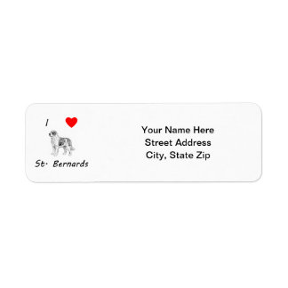 I Love St. Bernards Label
