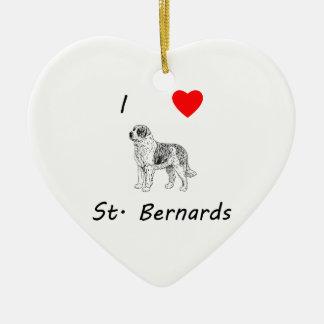 I Love St. Bernards Ornaments