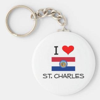 I Love St. Charles Missouri Basic Round Button Keychain