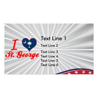 I Love St. George, South Carolina Double-Sided Standard Business Cards (Pack Of 100)