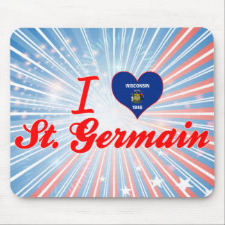 I Love St. Germain, Wisconsin Mouse Pad