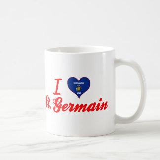 I Love St. Germain, Wisconsin Mugs