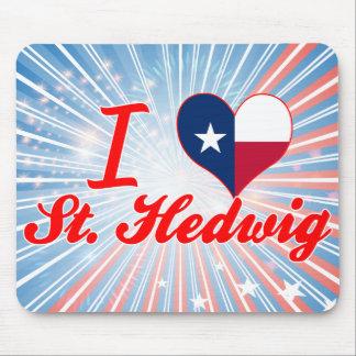 I Love St Hedwig Texas Mousepads