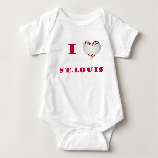 I Love St. Louis Baby Bodysuit