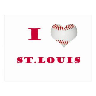 I Love St. Louis Baseball Postcard