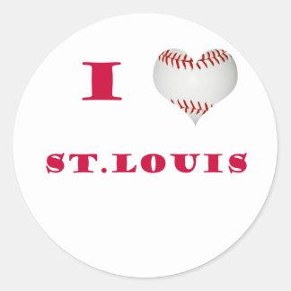 I Love St. Louis Classic Round Sticker