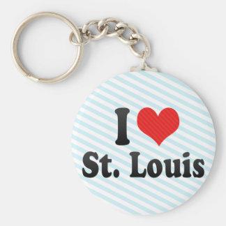 I Love St. Louis Key Chain