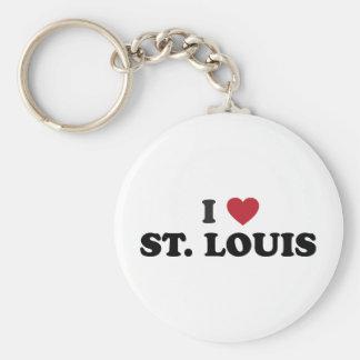 I Love St. Louis Missouri Basic Round Button Keychain