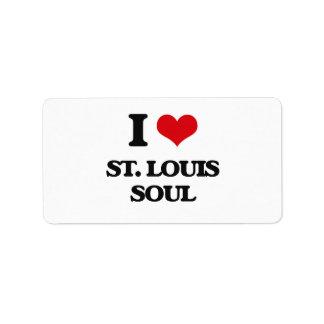 I Love ST. LOUIS SOUL Custom Address Label