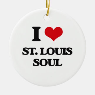 I Love ST. LOUIS SOUL Double-Sided Ceramic Round Christmas Ornament
