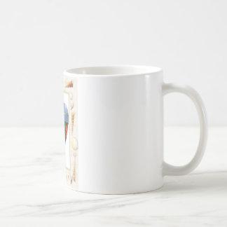 I love St. Maarten Shells Heart -.Celeste Sheffey Coffee Mug