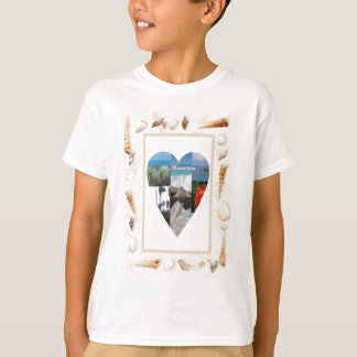 I love St. Maarten Shells Heart -.Celeste Sheffey T-Shirt