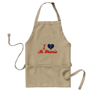 I Love St. Marie, Wisconsin Adult Apron