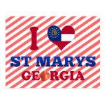 I Love St Marys, Georgia Post Cards