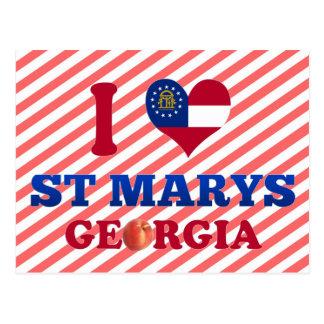 I Love St Marys, Georgia Postcard