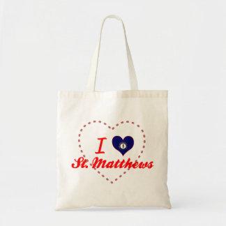 I Love St.Matthews, Kentucky Canvas Bag