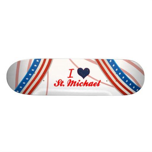 I Love St. Michael, Alaska Custom Skate Board