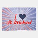 I Love St. Michael, Alaska Hand Towel