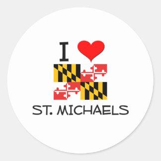 I Love St. Michaels Maryland Classic Round Sticker