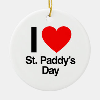 i love st. paddy's day christmas ornaments