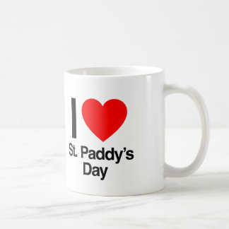 i love st. paddy's day classic white coffee mug