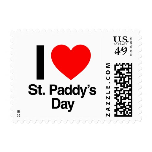 i love st. paddy's day postage stamp