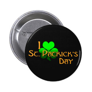 I Love St. Patrick's Day Buttons
