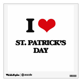 I love St. Patrick'S Day Wall Decal