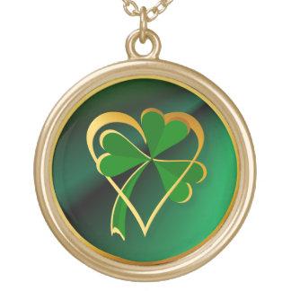 I Love St. Patrick's Round Pendant Necklace