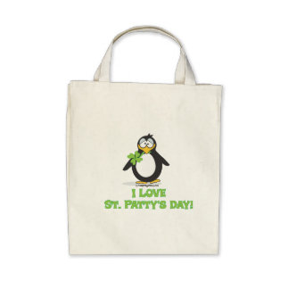 I Love St Patty's Day Canvas Bags