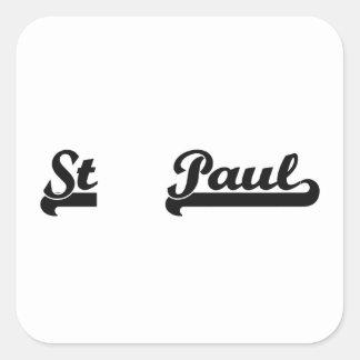 I love St. Paul Minnesota Classic Design Square Sticker